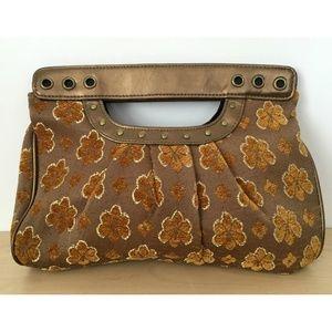 Apt. 9 Gold Brown Handbag Purse Vintage Style Bag